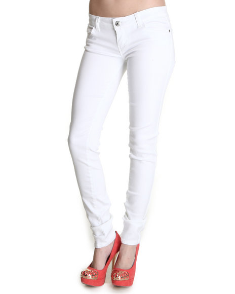 Celebrity Pink Women White Celebrity Pink Clean Basic Skinny Jean