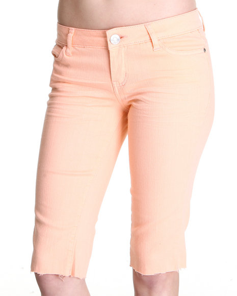 Celebrity Pink Women Orange,Pink Jean Capri