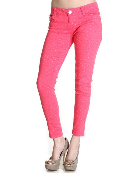 Celebrity Pink - Women Pink Polka Dot Skinny Jean