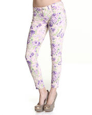 Bottoms - Floral Blast Ankle Skinny Jean Pant