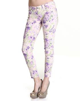 Celebrity Pink - Floral Blast Ankle Skinny Jean Pant