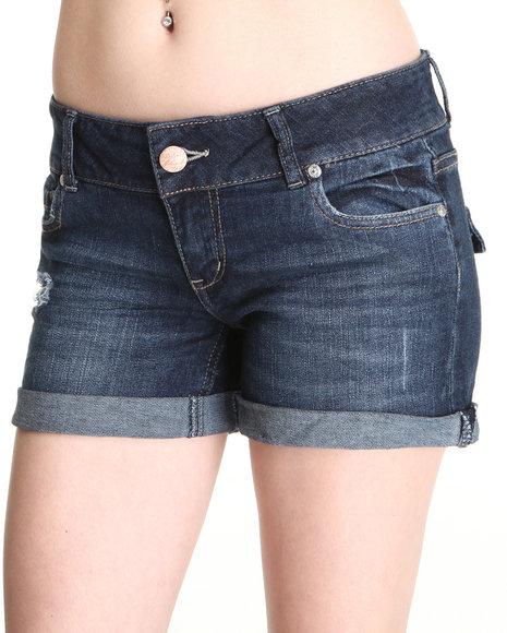 Celebrity Pink Women Dark Wash 4' Skinny Jean Shorts