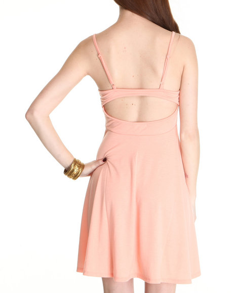 Fashion Lab Women Pink Stacy Spagetti Stap Dress