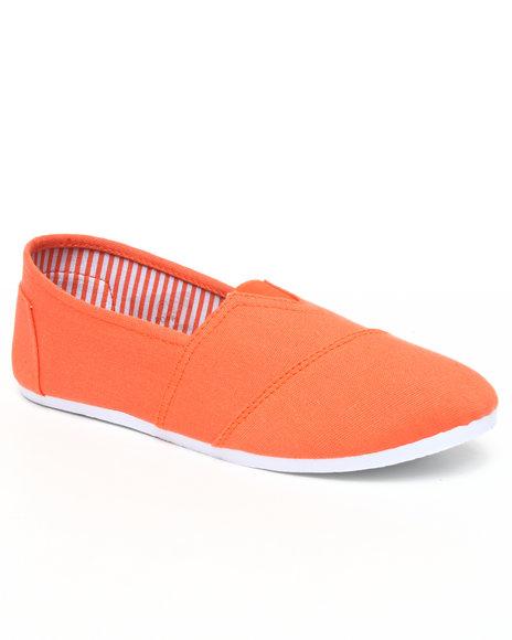 Apple Bottoms Women Orange Poppi Casual Canvas Sneaker