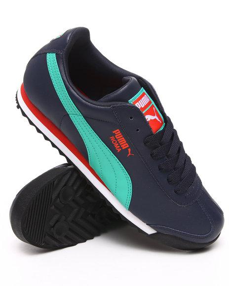 Puma Men Navy Roma Sneakers