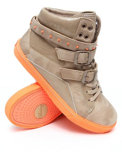 Pastry Women Tan Pop Tart Strap Spikes Sneaker
