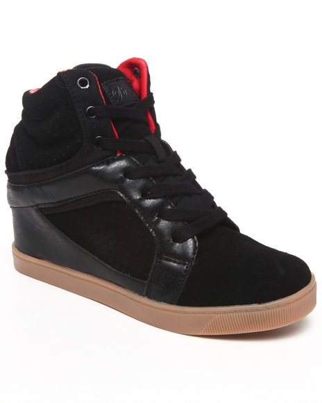 Pastry - Women Black Strudel Wedge Sneaker