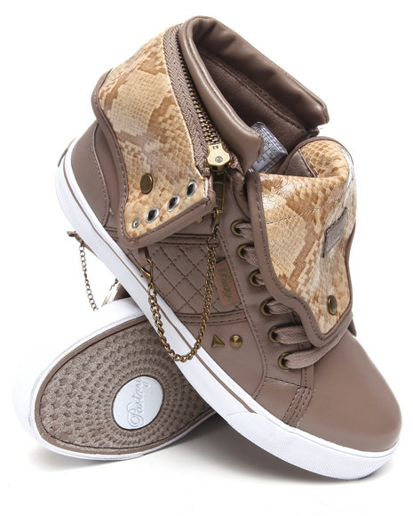 Pastry Women Animal Print,Tan Sugar Rush Spikes Sneaker