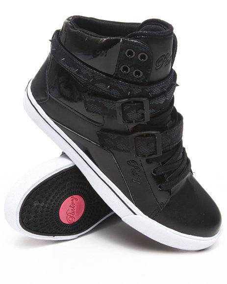 Pastry Women Black Pop Tart Strap Spikes Sneaker