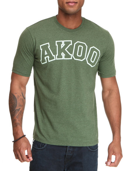 Akoo Men Green Schooled Tee