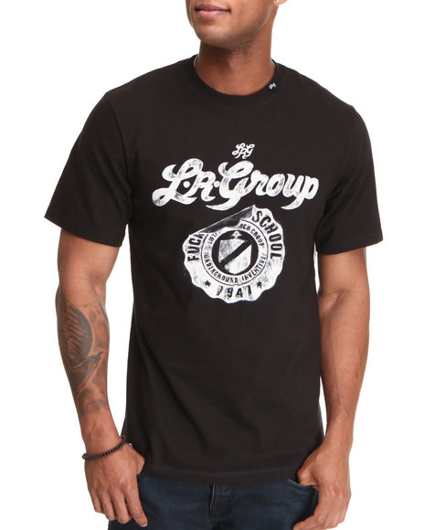 LRG Men Black Lrg School Emblem Tee