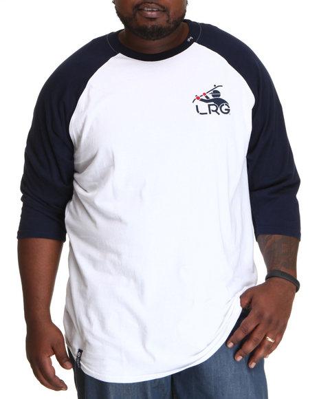 LRG Men Navy,White South Sider Baseball Tee (B&T)