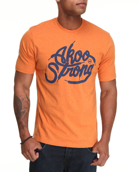 Akoo Men Orange Post Tee