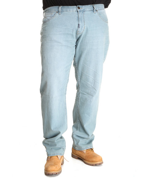 LRG Men Light Wash Forestation True-Straight Jeans