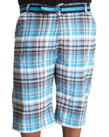 Enyce Men Blue Thrasher Plaid Short (B&T)
