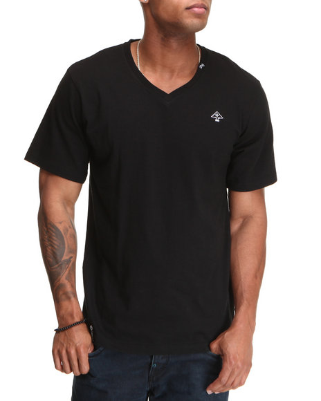 Lrg Men Core Collection Solid VNeck Tee Black Small
