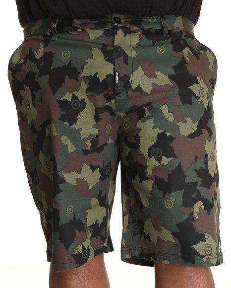 LRG Men Camo,Green Core Collection True-Straight Chino Shorts