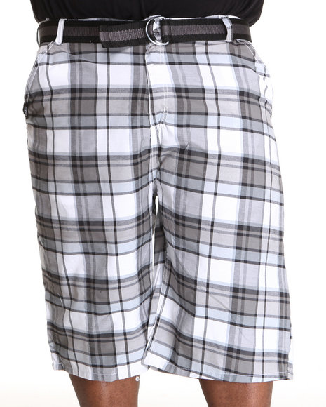 Enyce Men White Thrasher Plaid Short (B&T)