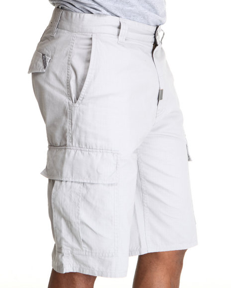 LRG Men Light Grey Core Collection Classic Cargo Shorts