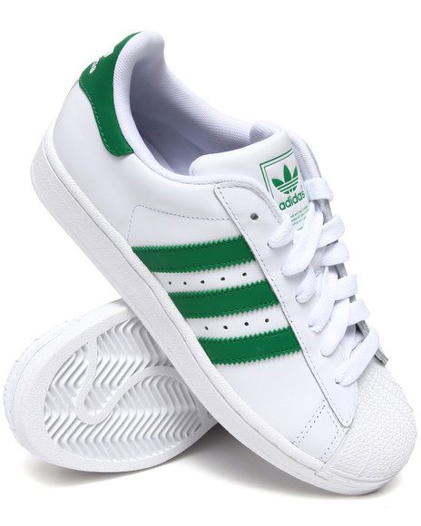 Adidas Men Green,White Superstar 2 Sneakers
