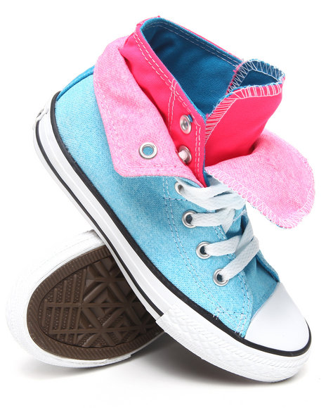 Converse Girls Blue Neon Chuck Taylor All Star Two Fold (11-3)