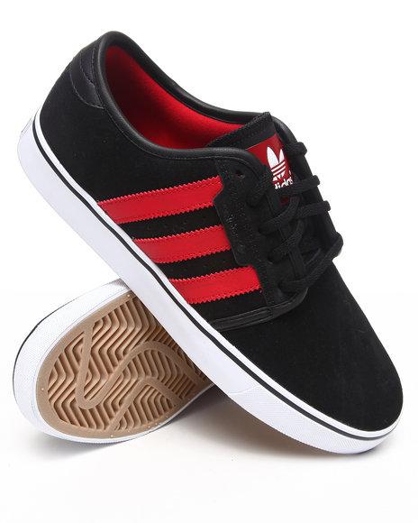 Adidas Men Black Seeley Suede Skate Sneakers