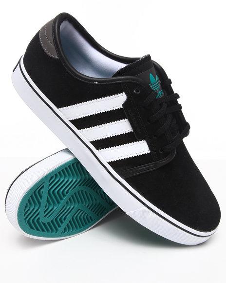 Adidas Men Black Seeley Suede Sneakers