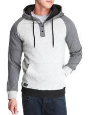 Men - Waylon pullover hoodie 2 tone fleece