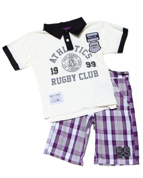 - 2PC CAMERON RUGBY SHORT SET
