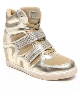 Apple Bottoms - Gavin Bling Strap Wedge Sneaker