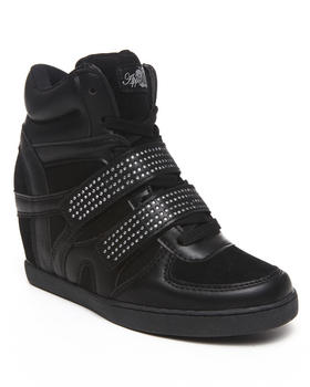Apple Bottoms - Gavin Bling Strap Wedge Sneaker