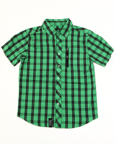 LRG Boys Green Constant Elevation Woven (8-20)