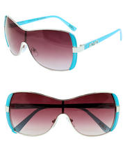 XOXO - Metal Shield Color Temple Decals Sunglasses