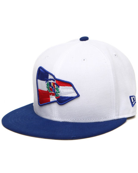 New Era Men White Dominican Republic Country Colors Ne Originals 5950 Fitted Hat