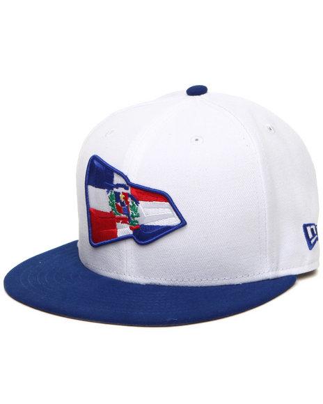 New Era Men Dominican Republic Country Colors Ne Originals 5950 Fitted White 7 12