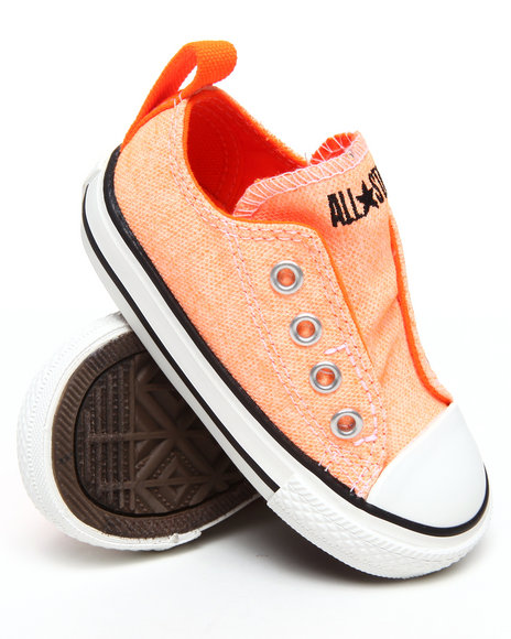 Converse Girls Orange Neon Chuck Taylor Simple Slip (5-10)