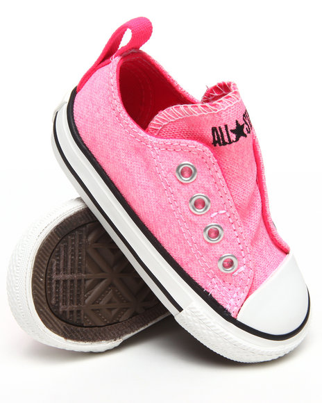 Converse Girls Pink Neon Chuck Taylor Simple Slip (5-10)