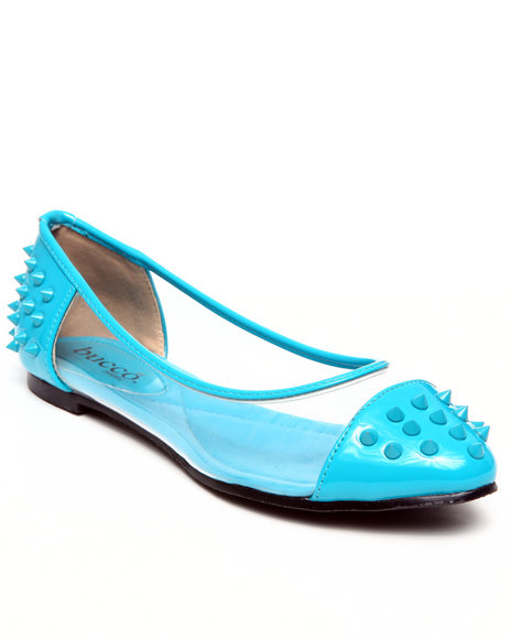 Fashion Lab - Women Blue Frostine Spike Flats
