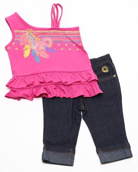 Akademiks Girls Pink 2 Pc Set - Top & Capri (4-6X)