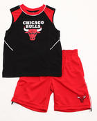 Boys - 2 PC SET - CHICAGO BULLS MUSCLE TANK & SHORTS (4-7)