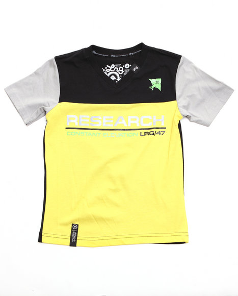 LRG Boys Yellow Constant Elevation V-Neck Tee (4-7)