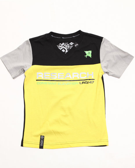 LRG Boys Yellow Constant Elevation V-Neck Tee (2T-4T)