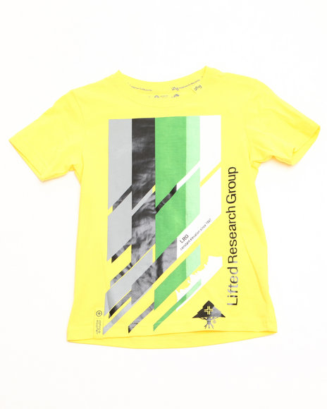 LRG Boys Yellow Research Icon Tee (2T-4T)
