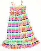 Dresses - Zig Zag Maxi Dress (7-16)