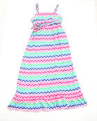 Girls - Zig Zag Maxi Dress (7-16)