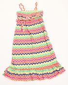 Dresses - Zig Zag Maxi Dress (4-6X)