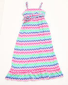 Girls - Zig Zag Maxi Dress (4-6X)