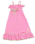 Dresses - Striped Ruffle Maxi Dress (4-6X)