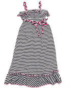 Girls - Striped Ruffle Maxi Dress (7-16)