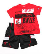 Boys - 2 PC SET - BULLS TEE & SHORTS (2T-4T)